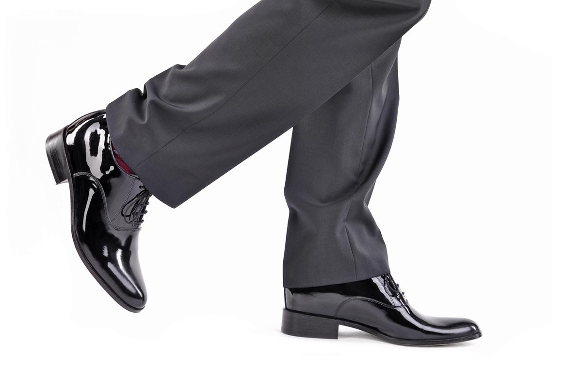 buty męskie do garnituru na wysokie podbicie